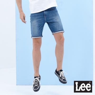 Lee 牛仔短褲 902 男 中藍  四面彈