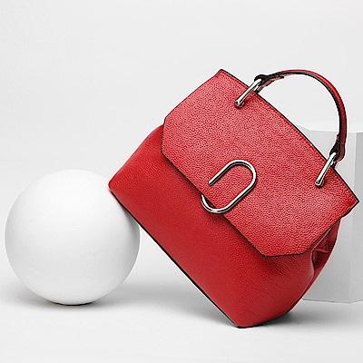 米蘭精品 肩背包真皮手提包-時尚高雅氣質貝殼女包母親節生日禮物4色73md27
