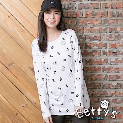 betty's貝蒂思 圓領小貝羊長袖T-shirt(白色)