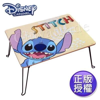 【迪士尼Disney】台灣製 史迪奇 活潑可愛 摺疊桌 四方桌 和室桌 兒童桌60x48x30cm