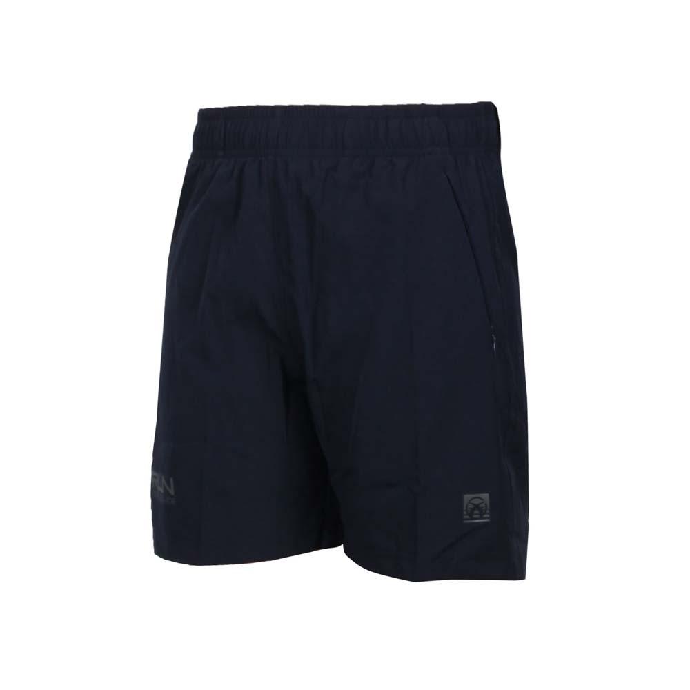 FIRESTAR 女彈性平織短褲-五分褲 慢跑 運動 反光 CL025-93 丈青