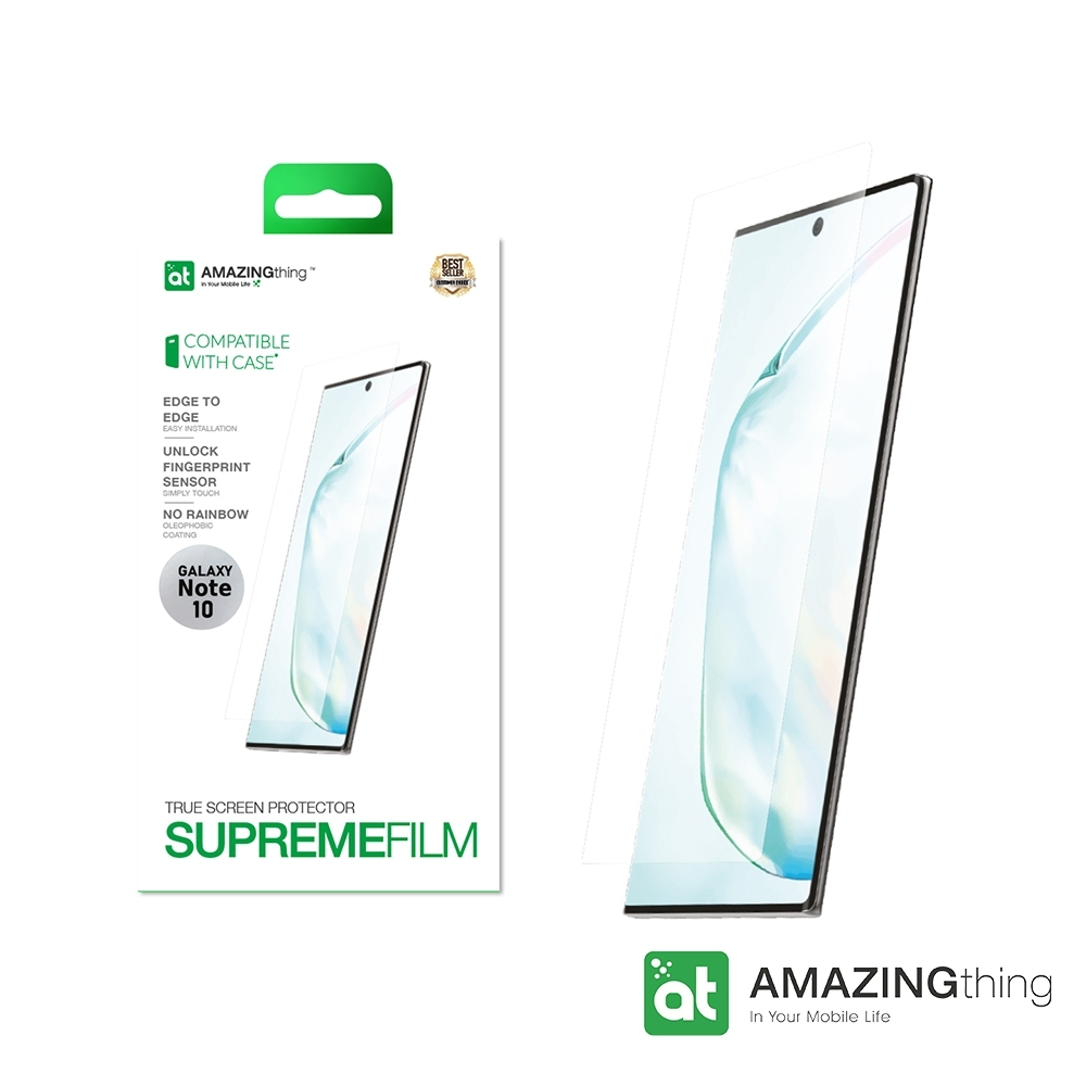 AMAZINGthing 三星 Galaxy Note 10 滿版抗衝擊螢幕保護貼