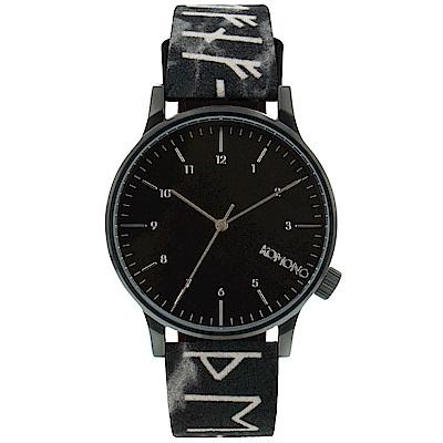 KOMONO Winston Rune 腕錶-性格黑/41mm