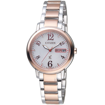 CITIZEN xC 魅力綻放光動能腕錶(EW2424-68A)-32mm