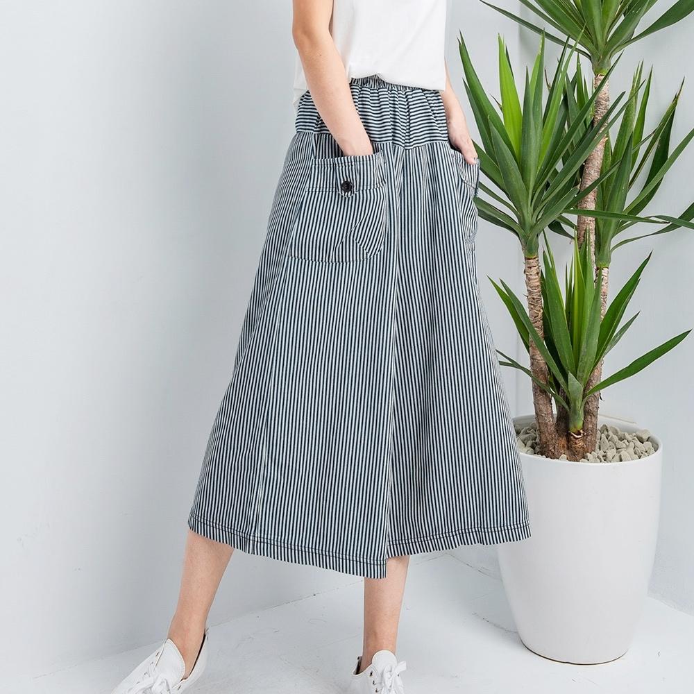 白鵝buyer 韓國製萌系寬版牛仔褲裙(2款可選)