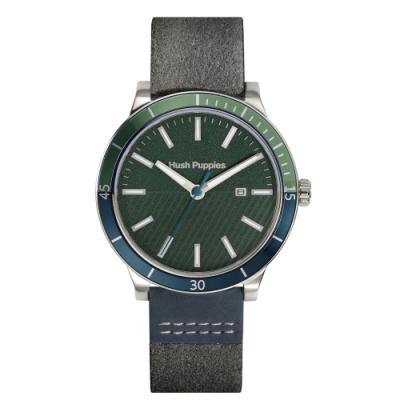 Hush Puppies 探險家潛水風腕錶 - 木綠色 / 44 mm