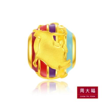 周大福 迪士尼經典系列 獅子王辛巴與好朋友黃金路路通串飾/串珠