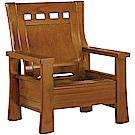 綠活居 瑪尼典雅風實木單人座沙發椅-80x79x100cm免組