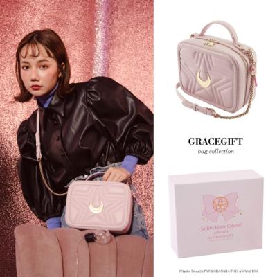 Grace gift-美戰彎月手提側背方包 粉