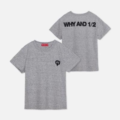 WHY AND 1/2 花紗棉質萊卡T恤-親子裝 5Y ~ 10Y