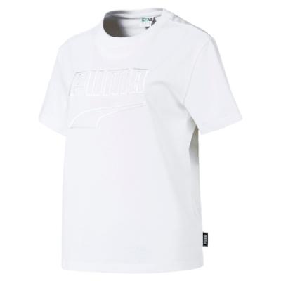 PUMA-女性流行系列Downtown短袖T恤-白色-歐規