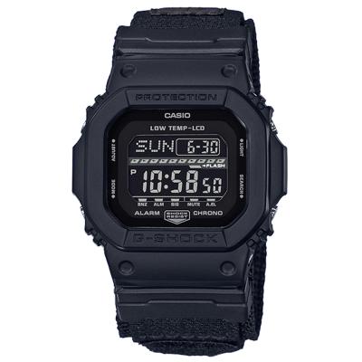 G-SHOCK軍事風飛行夾克設計極限運動休閒錶(GLS-5600WCL-1)黑框43mm