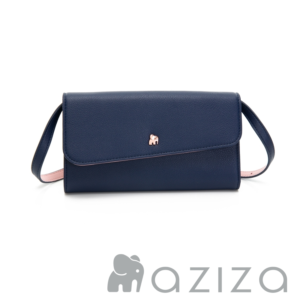 aziza AGNES 可拆式3way手拿/皮夾包 深藍