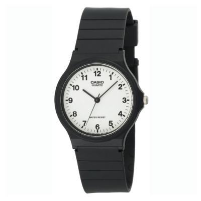 CASIO 超輕薄感數字錶(MQ-24-7B)-白面x黑數字