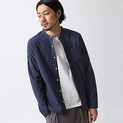 純棉府綢立領襯衫(20色) ZIP日本男裝