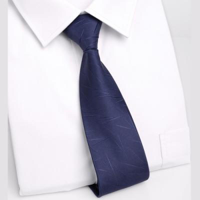 Laifuu拉福,領帶8cm寬版雪片領帶手打領帶(深藍)