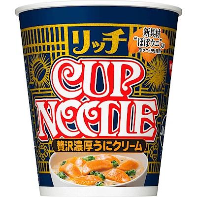 日本NISSIN 日清濃厚奶油海膽泡麵(每杯約72g) x6杯