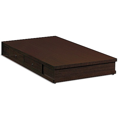 凱曼  艾狄生方形3.5尺床底 (有抽屜)(胡桃/白橡)兩色可選