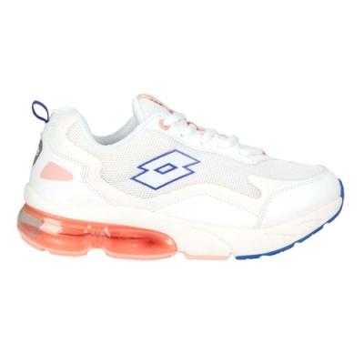 LOTTO 女氣墊慢跑鞋-路跑 運動 反光 避震 LT0AWR2199 白粉橘藍