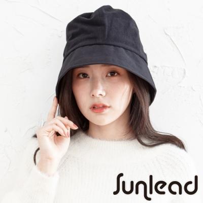 Sunlead 小顏美型。蓄熱保暖可折邊抗靜電防寒軟帽 (黑色)