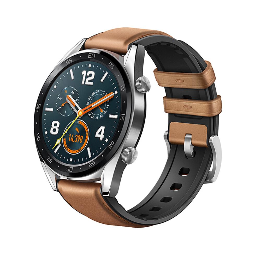 HUAWEI Watch GT 運動智慧手錶 (馬鞍棕皮膠錶帶)