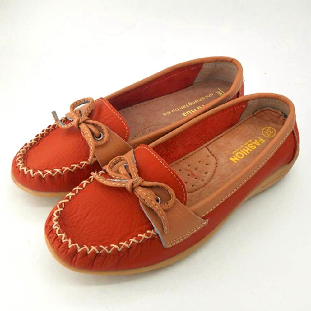 韓國KW美鞋館-(現貨)四季熱銷蝴蝶造型真皮鞋(共3色) (紅)