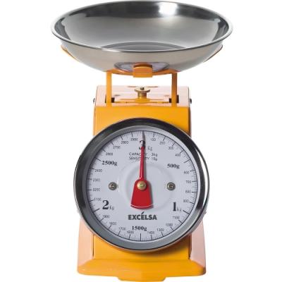 《EXCELSA》Vintage料理秤(芥末黃3kg)