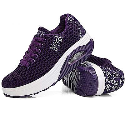 韓國KW美鞋館 獨家首賣必買經典印花氣墊鞋-紫色