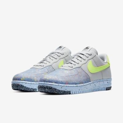 Nike 休閒鞋 Air Force 1 Crater 男鞋 基本款 舒適 半透明鞋面 簡約 穿搭 灰 黃 CZ1524001