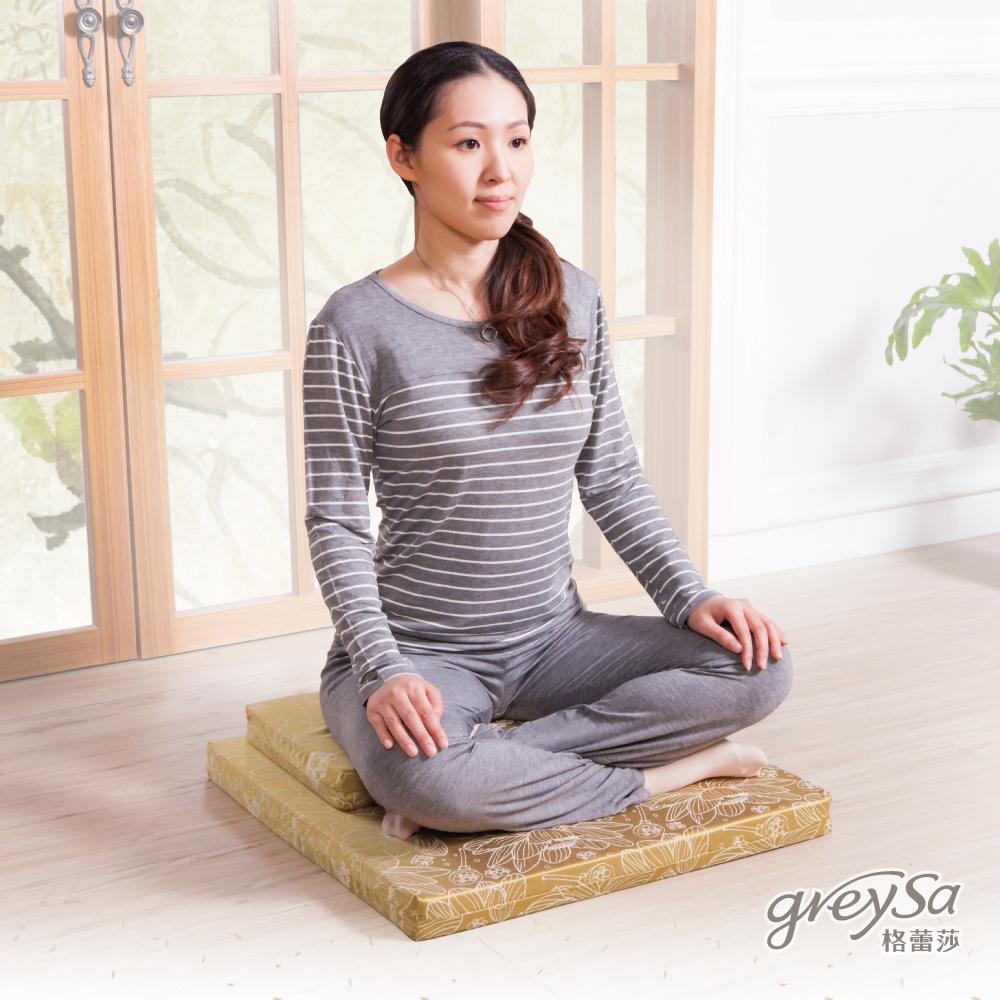 GreySa格蕾莎 蓮花靜修坐墊組-橄欖綠