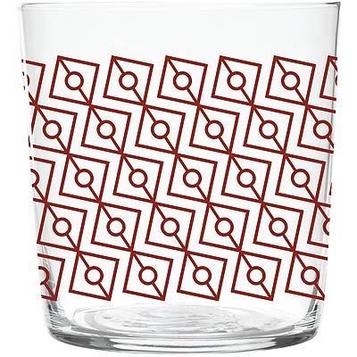 EXCELSA窗花玻璃杯紅370ml