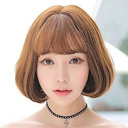 米蘭精品 短假髮整頂假髮-空氣瀏海梨花頭短直髮女假髮5色73rr18