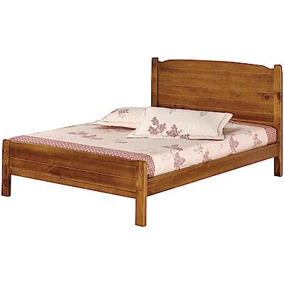 綠活居 哈斯時尚5尺實木雙人床台(不含床墊)-151x195x98cm免組
