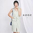 東京著衣-KODZ 法式經典深V綁帶洋裝-S.M(共一色)