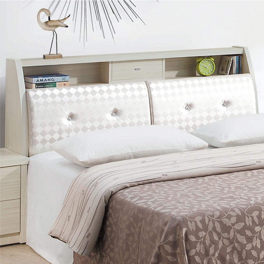 文創集 瓦娜6尺皮革雙人加大床頭箱(二色+不含床底)-182x30x102cm免組