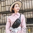 DF Queenin日韓 - 個性展現經典菱格鉚釘腰包