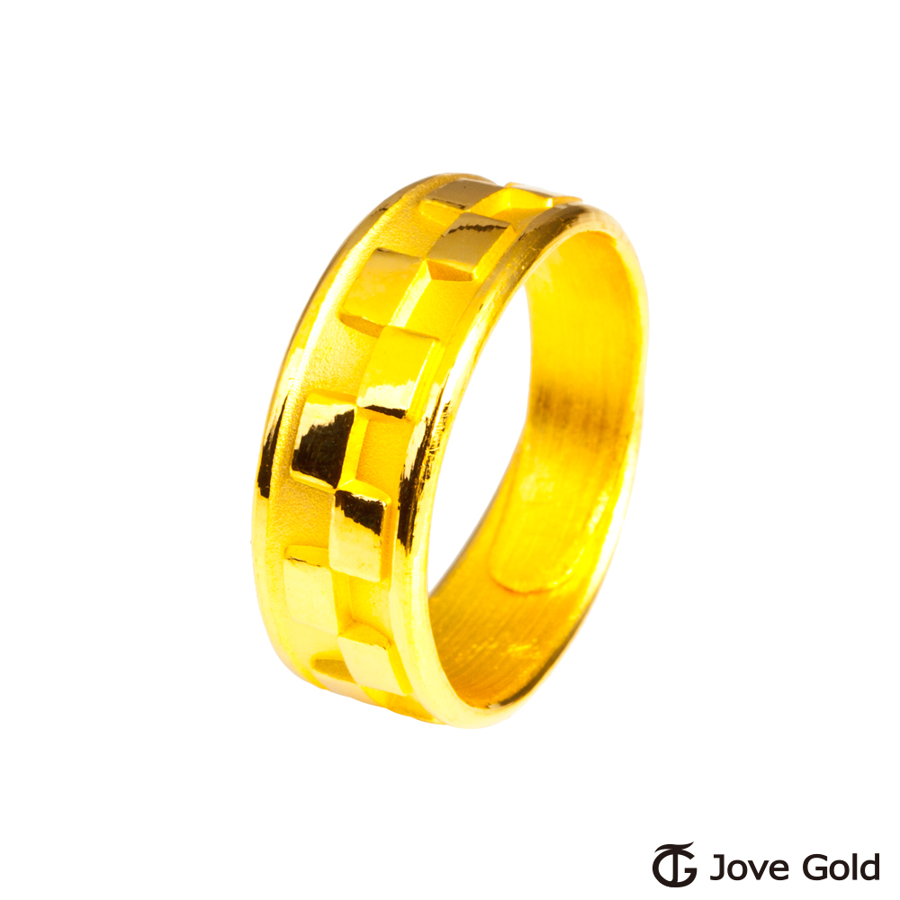 Jove Gold 漾金飾 簡單愛黃金男戒指