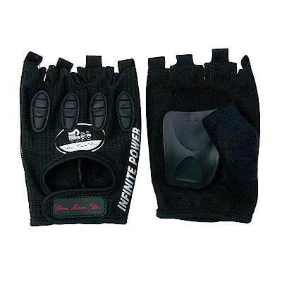 DLD多輪多 專業競速直排輪護掌 溜冰鞋護具配件 護手掌 半指競速手套 黑