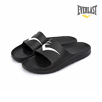 EVERLAST 品牌經典LOGO拖鞋-男-黑