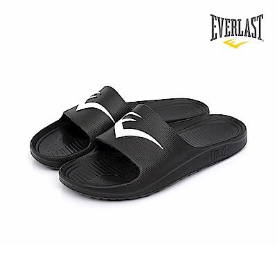 EVERLAST 品牌經典LOGO拖鞋-女-黑