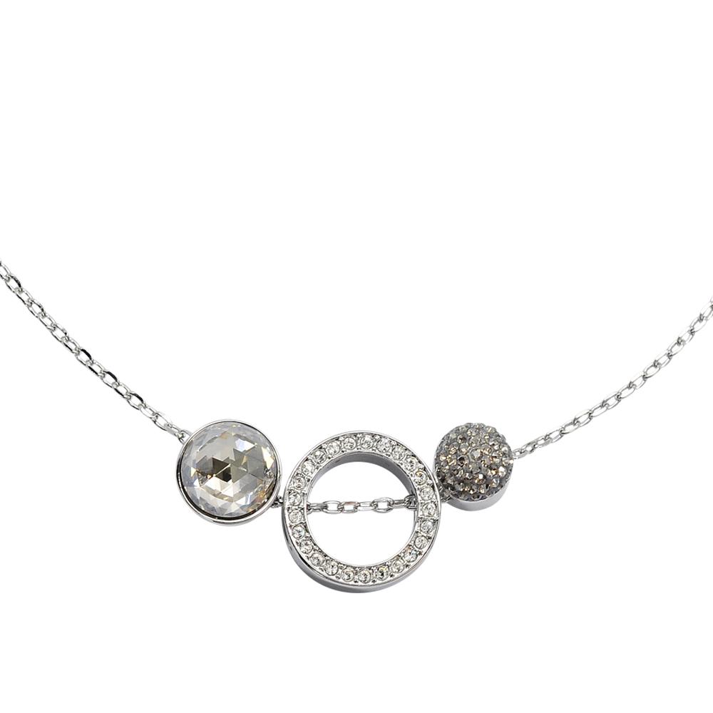 SWAROVSKI 施華洛世奇 HOTE VERSATILE璀璨水晶銀色項鍊