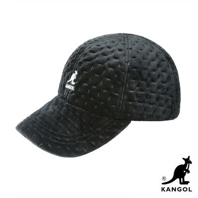KANGOL-DASH 紋路棒球帽-黑色