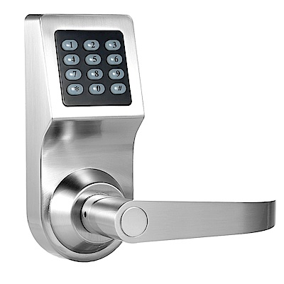 SW200MF-6300 銀色 三合一電子鎖 語音提示 密碼、錀匙、感應卡(不含安裝)