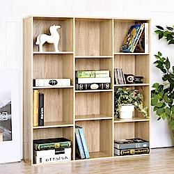 《HOPMA》DIY巧收經典十二格書櫃-寬100.5 x深24.5 x高110.5cm