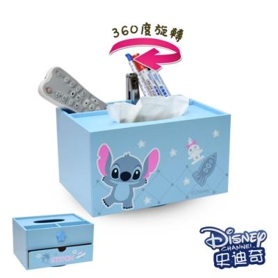 CY本舖 迪士尼Disney 史迪奇 旋轉面紙盒 抽屜盒 筆筒 衛生紙盒 紙巾盒
