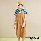 gozo-立體大口袋寬版吊帶洋裝(二色)