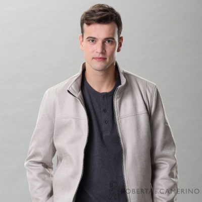 ROBERTA諾貝達 保暖百搭 內刷絨毛夾克外套 灰色