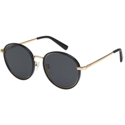 Salvatore Ferragamo 韓版圓框 太陽眼鏡 (黑配金)