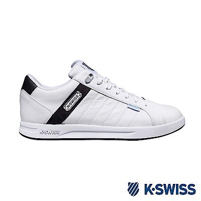 K-SWISS Lundahl WP防水系列 休閒運動鞋-男-白/咖啡