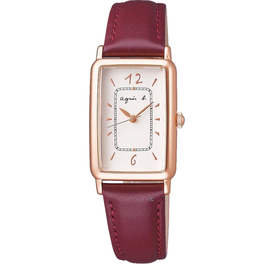 agnes b.marcello系列手寫時標經典女錶 (VC01-KXT0J)BX2004X1-28mm